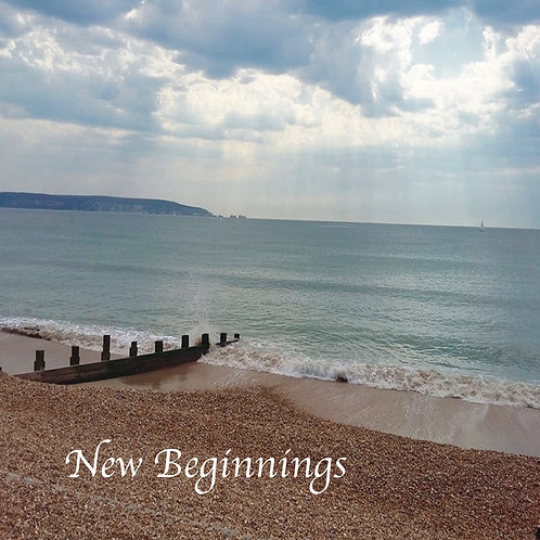 New beginnings Greeting Card. Photographic Sea and sky.
