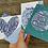 Thumbnail: Set of Christian postcards. Hope. Faith. Love. Joy. Postcards Emily Kelly Design