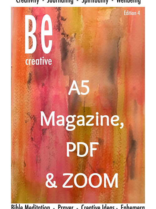 Beginners Guide to Bible Art Journaling. BE Creative - Printed A5