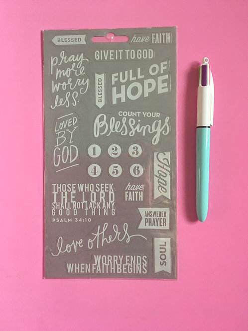Christian Stickers. Bible verse stickers