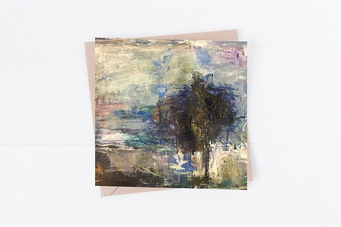 Blank Greeting Card. Greetings Cards. Tree painting
