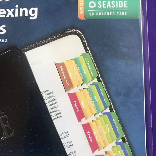 Rainbow Colour Bible Indexing Tabs. Reflections of You. Seaside.