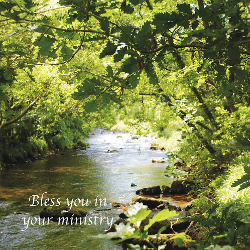 Bless you in your ministry. Greeting Card. Photographic image