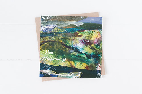 Greeting Card. New beginnings. Christian card