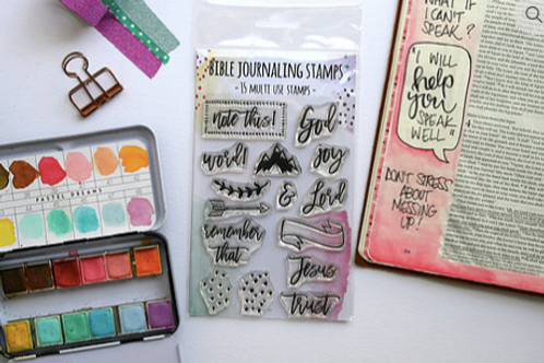 Bible Journaling Stamps. Christian Stamps. Bible Word Stamps