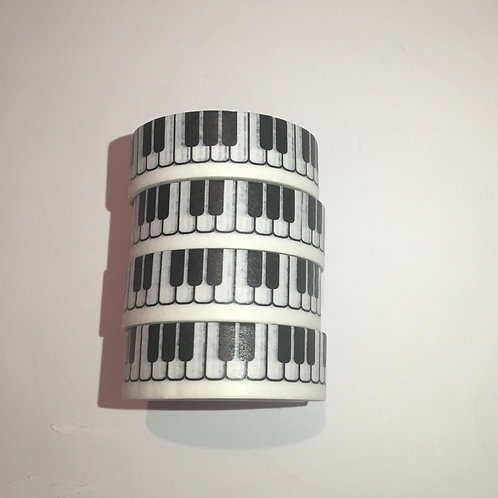 Washi Tape. Musical. Piano Keyboard.