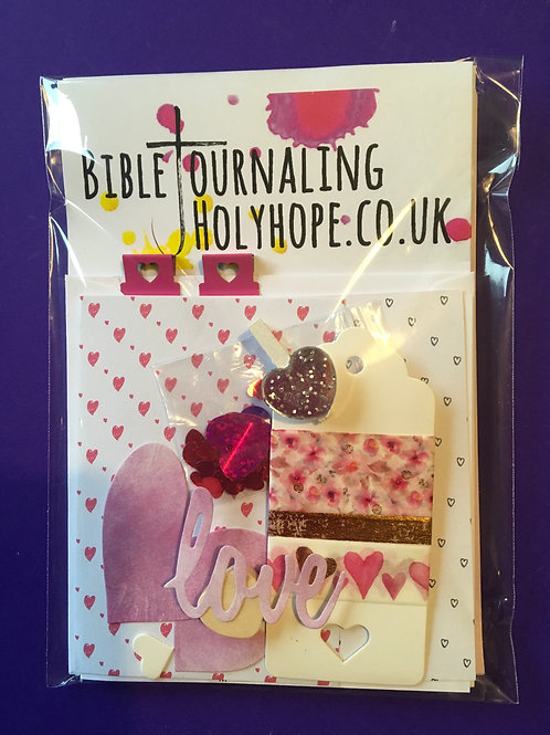 Mini Bible Journaling Kit. Valentines. Palentines. Love from Father God