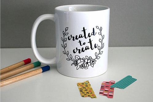Created to Create. Mug.Christian Mug. Christian Christmas Gift.