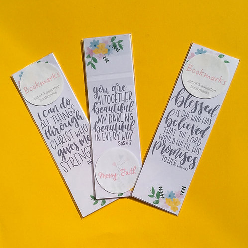 Set of 3 Christian Bookmarks.