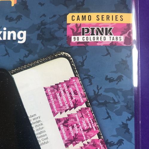Pink Camo Series. Bible Indexing Tabs