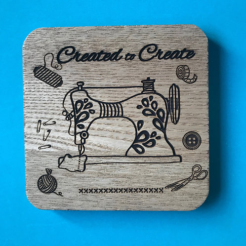 Created to Create. Christian Coaster. Bible Journaling Gift.