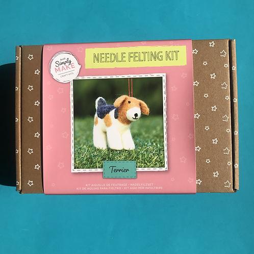 Terroir Dog Needle felting kit. Ideal Christmas gift for crafter