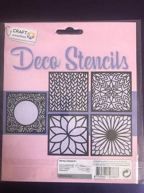 Deco Stencil Set, Craft Sensations, flowers leaves, boarder flowers
