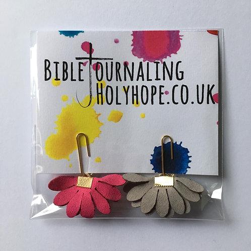 Flower Bible Bookmarks. Christmas Christian Gift. Stocking Filler..