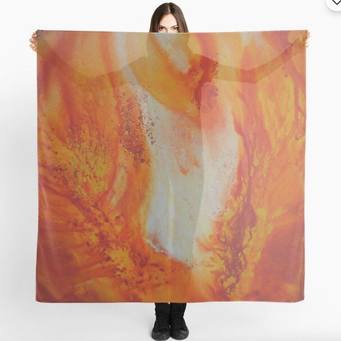 Art to Wear.  Fire Scarf.  Christian Dance Scarf. Christian Art. MADE TO ORDER