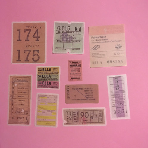 Colourful Ticket Art Journal Velum Stationary Stickers