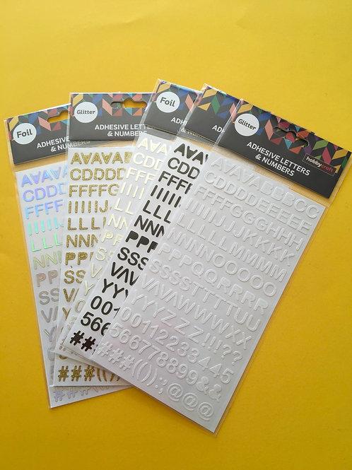 Upper Case Alphabet Stickers