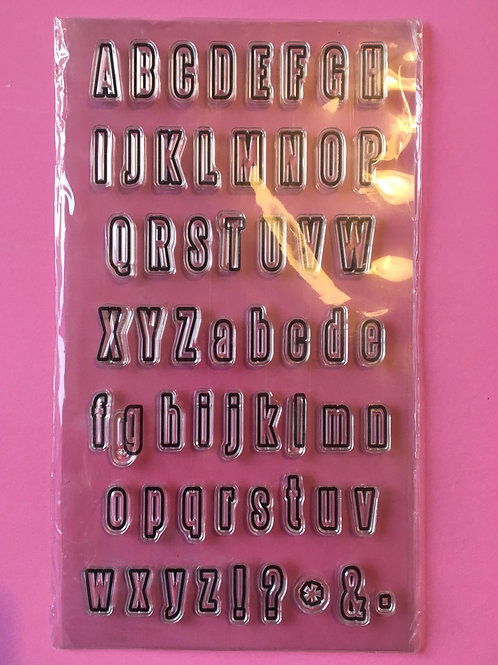 Alphabet stamps. Upper and lower case silicone stamps.