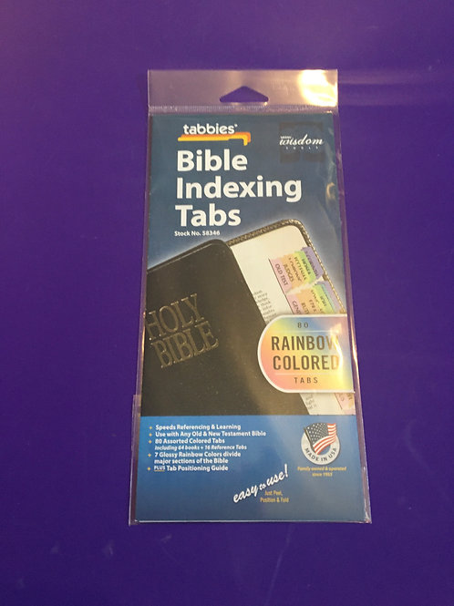 Rainbow Colour Bible Indexing Tabs