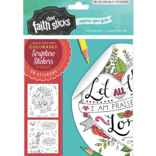 Psalm 103:2 Colourable Stickers. Faith That Sticks. Bible Journa