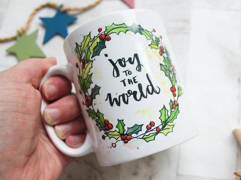 Christmas Carol Mug. Joy to the world.