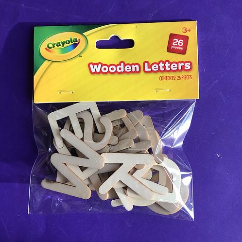 Crayola Alphabet Wooden Uppercase Stencil Letters