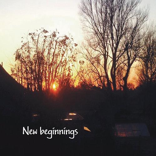 New beginnings Greeting Card. Photographic Sunset.
