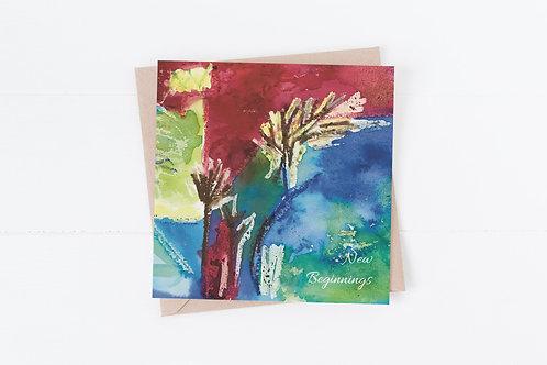 New beginnings greetings card.