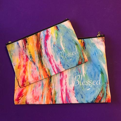 Blessed. Purse, Make up bag, Pencil case. Zipper Pouches.