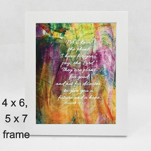 For you know the plans I have for you. Christian framed print.