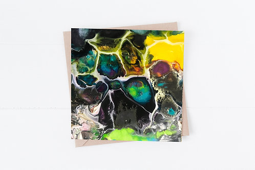 Blank Greeting Card. Greetings Cards. Paint pouring