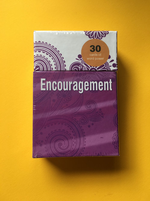 Christian Encouragement Gift. Word Power Cards. Gift Box