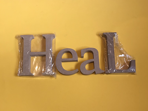HEAL MDF Letters to decorate yourself. Christian Ornament.