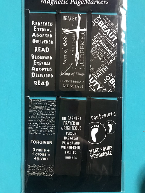 Magnetic Bookmark. Christian Gift for men