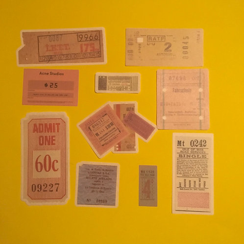 Ticket ArtJournal Velum Stationary Stickers
