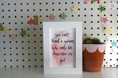Christian gift. Christian framed print.