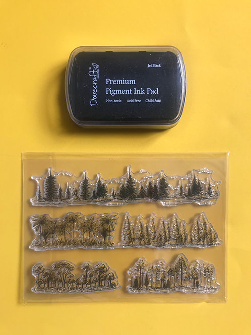 Tree stamp set. Tree stamps