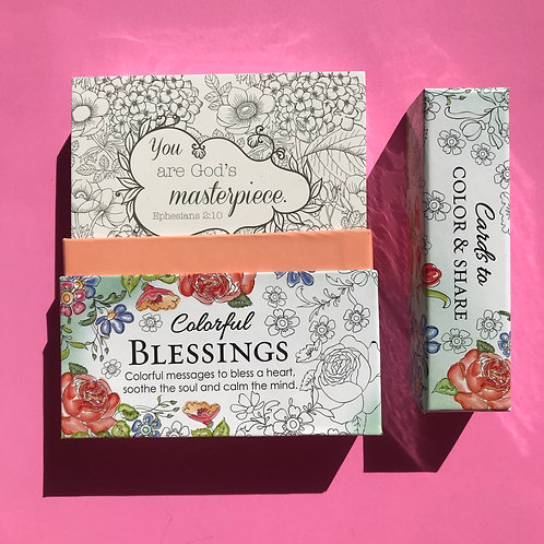 Blessings cards to colour and to share