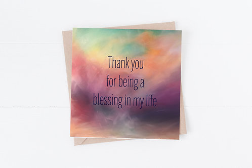 Greetings Card. Christian card. Thank you