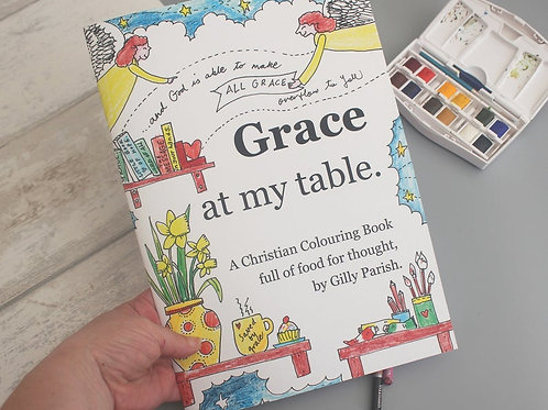 Christmas Creative Gift for her. Christian Colouring Book. Christian Graces.