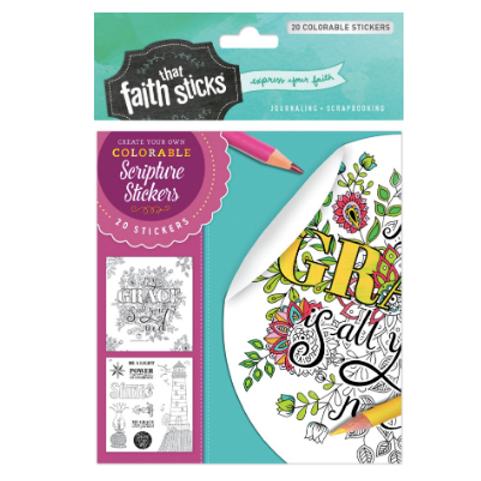 2 Corinthians 12:9 Colourable Stickers. Faith That Sticks. Bible Journaling