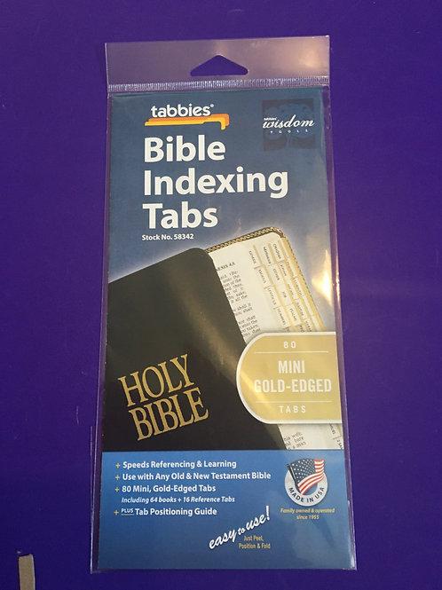 Bible Indexing Mini Gold Edge Tabs