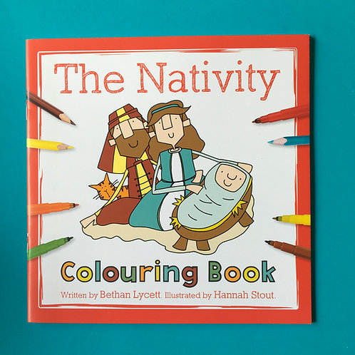 The Nativity Colouring Book. Christmas Story for children and adults.