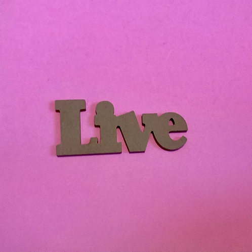Live MDF Word to decorate yourself. Christian Ornament.