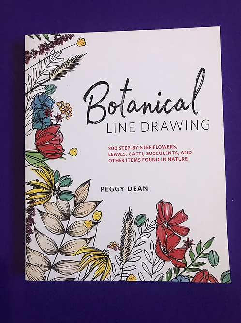 Botanical Line Drawing. Peggy Dean
