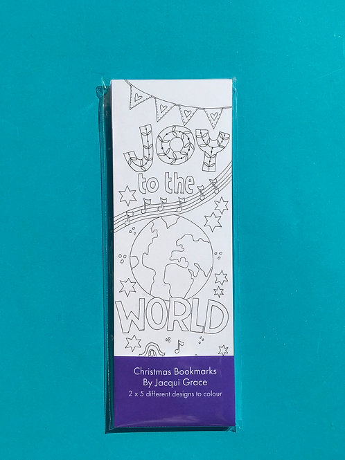 Christmas colouring bookmarks