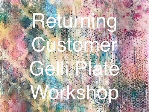 RETURNING CUSTOMER - Gelli Printing Workshop. February 13th 2021