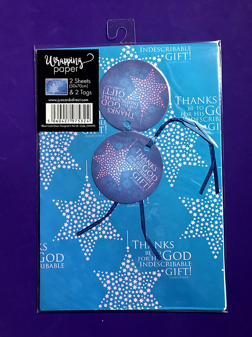 Christian Christmas Wrapping Paper. Thanks Be to God Wrapping Paper