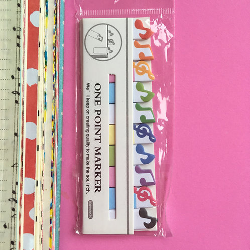 Musical Notes Post it Notes. Journaling Markers