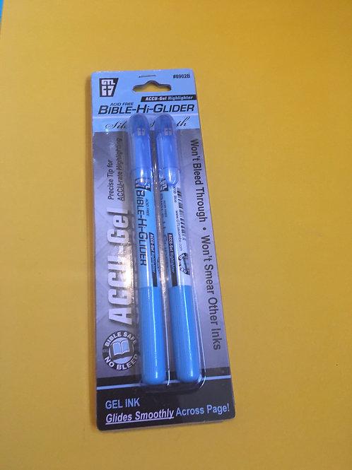 Highlighter BIBLE HI-GLIDER BLUE 2 PACK